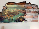 3D Muursticker Londen vanuit de lucht