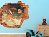 3D Kinder muursticker In de lucht